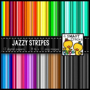 Background Paper – Jazzy Stripes Bundle