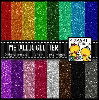 Background Paper – Metallic Glitter Bundle