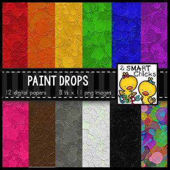 Background Paper – Paint Drops Bundle