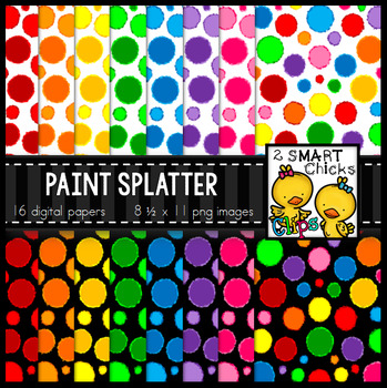 Background Paper – Paint Splatter Bundle