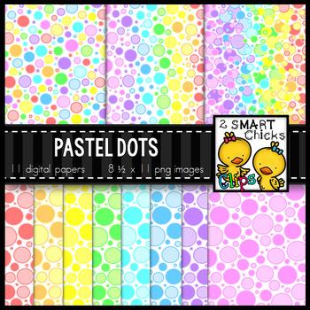 Background Paper – Pastel Dots Bundle