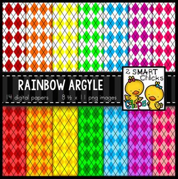 Background Paper – Rainbow Argyle Bundle