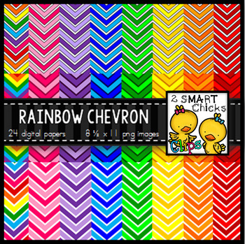 Background Paper – Rainbow Chevron Bundle