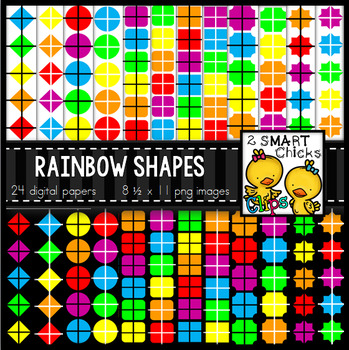 Background Paper – Rainbow Shapes Bundle