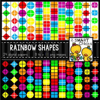 Background Paper – Rainbow Shapes Bundle