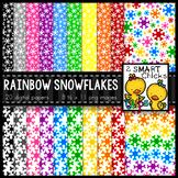 Background Paper – Rainbow Snowflake Bundle