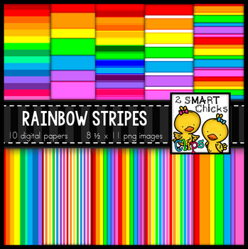 Background Paper – Rainbow Stripes Bundle
