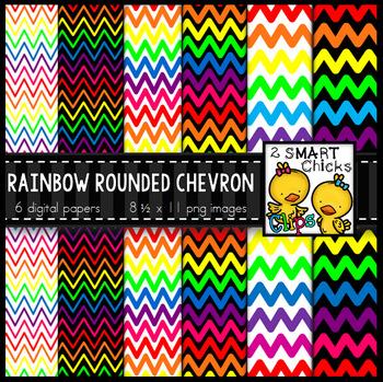 Background Paper – Rainbow Rounded Chevron Bundle FREEBIE