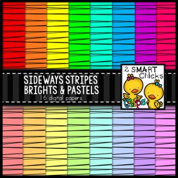 Background Paper – Sideways Stripes Brights & Pastels