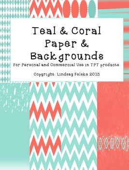 Background Paper (Teal and Coral)