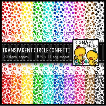 Background Paper – Transparent Circle Confetti Bundle