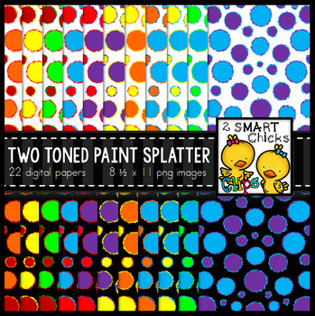 Background Paper – Two Toned Paint Splatter Bundle