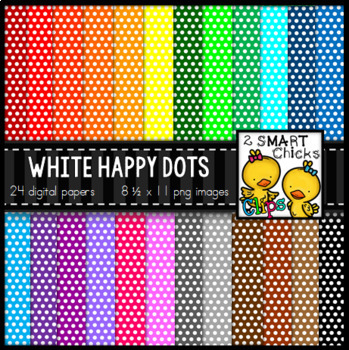 Background Paper – White Happy Dots Bundle