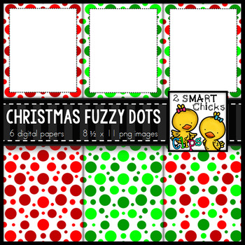 Background Paper and Borders – Christmas Fuzzy Dot FREEBIE