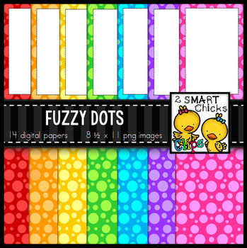 Background Paper and Borders – Fuzzy Dots Bundle FREEBIE