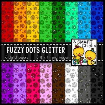 Background Paper – Fuzzy Dots Glitter