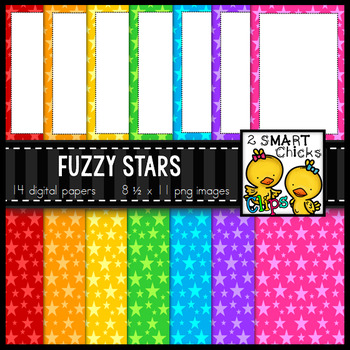 Background Paper and Borders – Fuzzy Stars Bundle