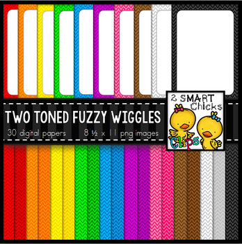 Background Paper and Borders – Two Toned Fuzzy Wiggles Bundle