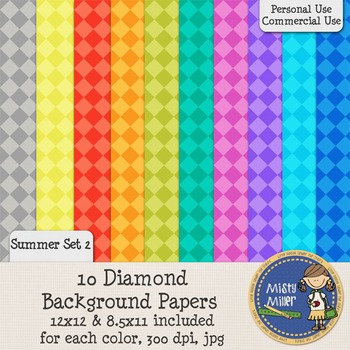 Digital Background Papers - Diamonds Summer 2
