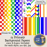Digital Background Papers - Primary Set 1 Mix