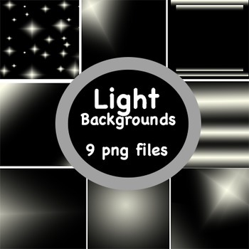 Background Papers: Set of 9 'Light' Theme digital papers; Clip Art Graphics