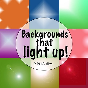 Backgrounds: Set of 9 'Light' Theme digital papers; Clip Art Graphics
