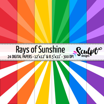 Sunburst Digital Paper ~ Bold Colors