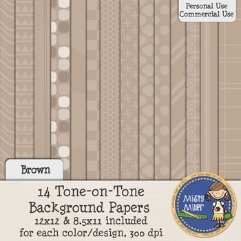 Digital Background Papers - Tone-on-Tone Brown