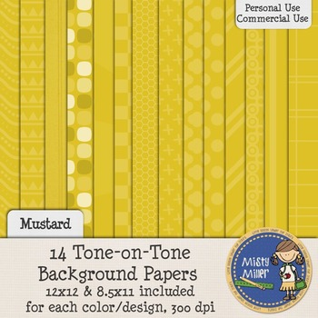 Digital Background Papers - Tone-on-Tone Mustard