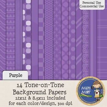 Digital Background Papers - Tone-on-Tone Purple