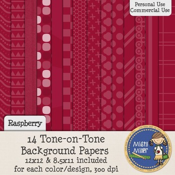 Digital Background Papers - Tone-on-Tone Raspberry