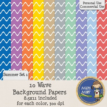 Digital Background Papers - Wave Summer 1 {FREE}