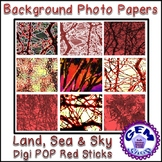 ClipArt: Background Photo RED Papers, Commercial & Persona
