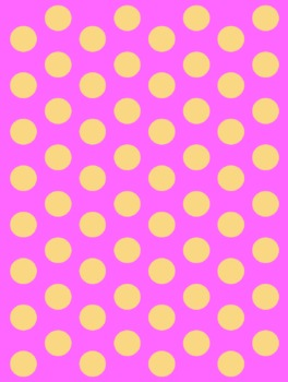Background - Pink with Orange Dots