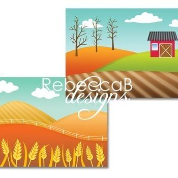 Fall Landscape Clip Art