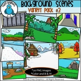 Background Scenes Clip Art Variety Pack #3 - Chirp Graphics