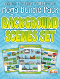 Background Scenes Clipart Mega Bundle {Zip-A-Dee-Doo-Dah Designs}