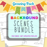 Background Scenes for Coloring Page Creators- Growing Pack
