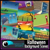 Halloween Scenes Clip Art