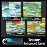 Seasonal Clip Art: MEGA Bundle - Landscape Scenes, All Seasons