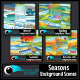Seasonal Clip Art: MEGA Bundle - Landscape Scenes, All Seasons