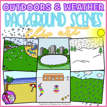 Outdoor Background Scenes & Weather clipart