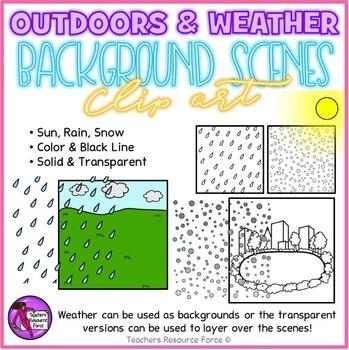 Outdoor Background Scenes & Weather clipart