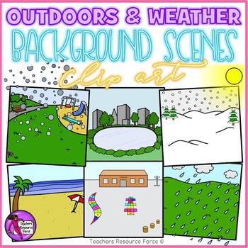 Outdoor Background Scenes & Weather cipart