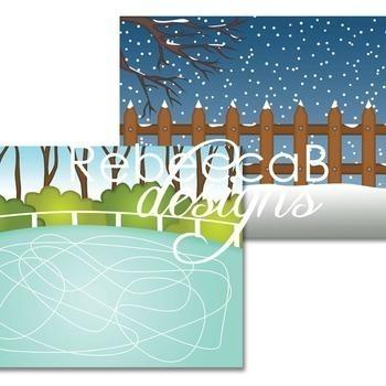 Winter Landscape Clip Art