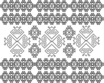 Background TRADITIONAL Clipart folklore chevron baby damask paper colors -013-