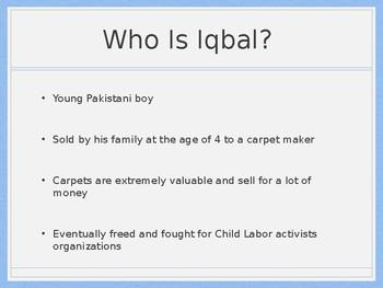 Background infomration for Iqbal Novel