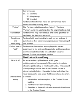 background notes on the scarlet letter by sabrina hinson tpt background notes on the scarlet letter