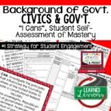 Background of Government I Cans & Posters, Self-Assessment