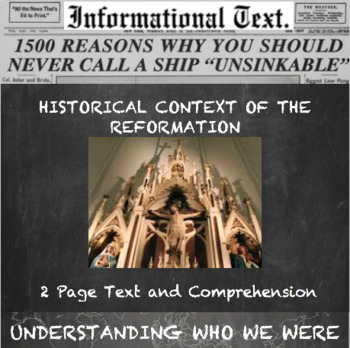 Background of the Protestant Reformation